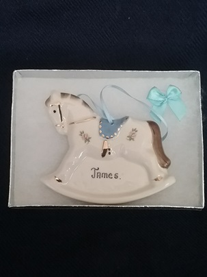 Baby gift boys rocking horse personalized hillgrove porcelain baby gift boys rocking horse personalized negle Image collections